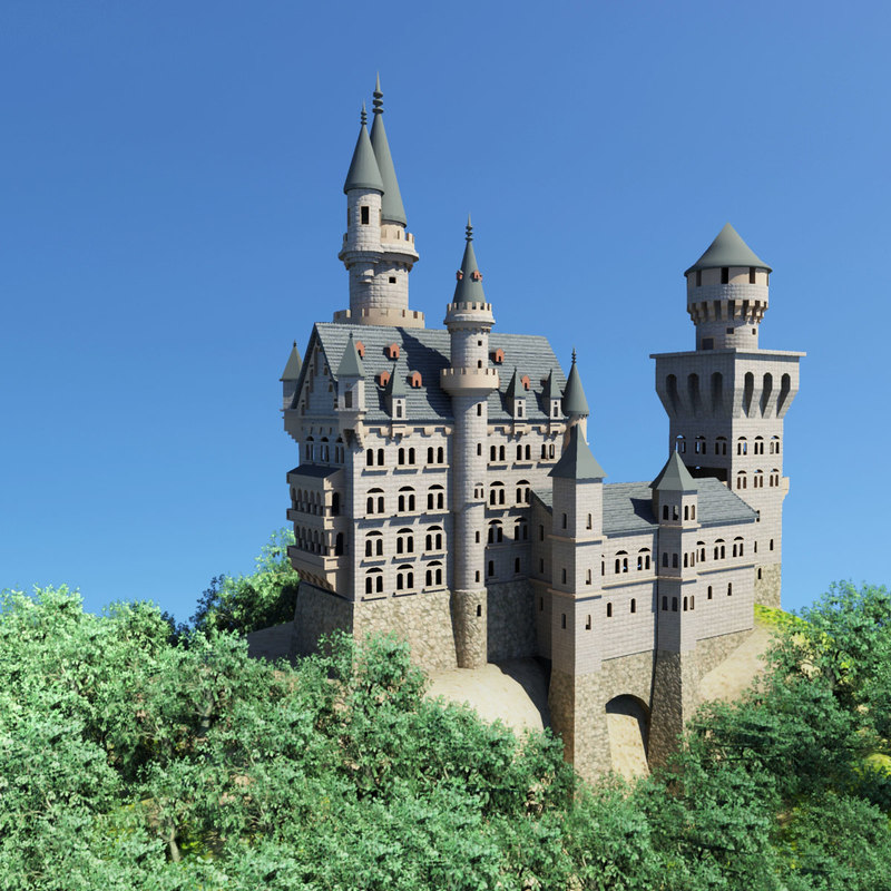 3d neuschwanstein castle model
