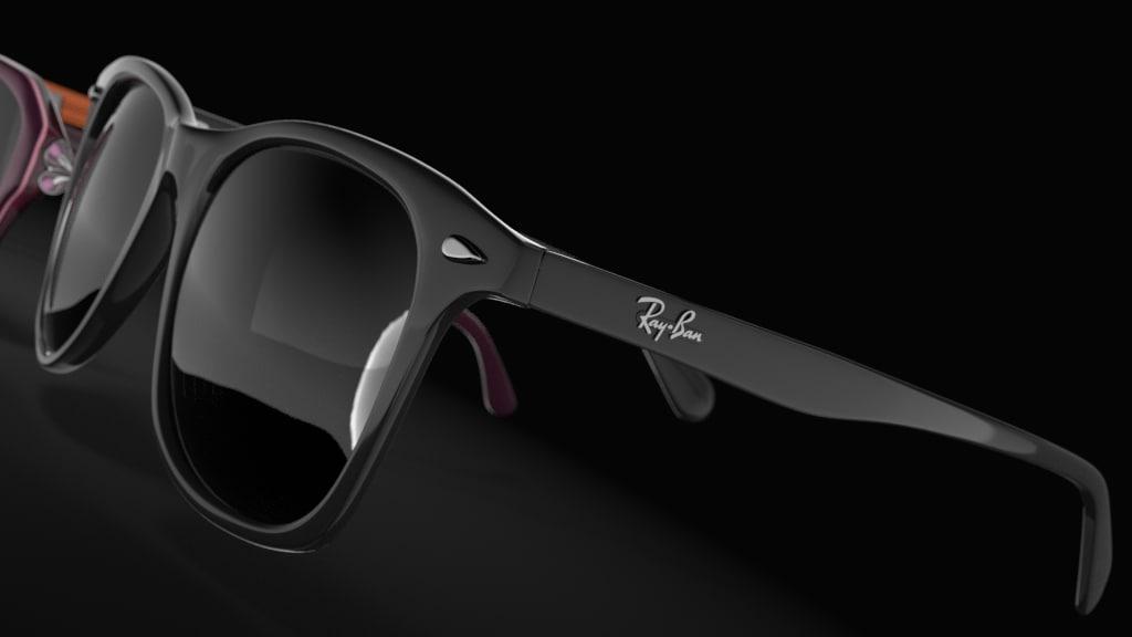 3d blender glasses model