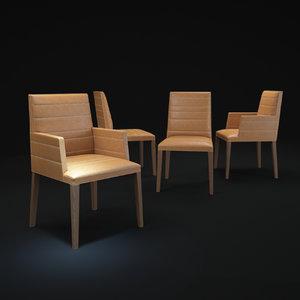 3d louise-chair model