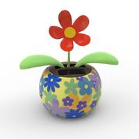 3d model solar flower