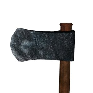 3d model axe weapon