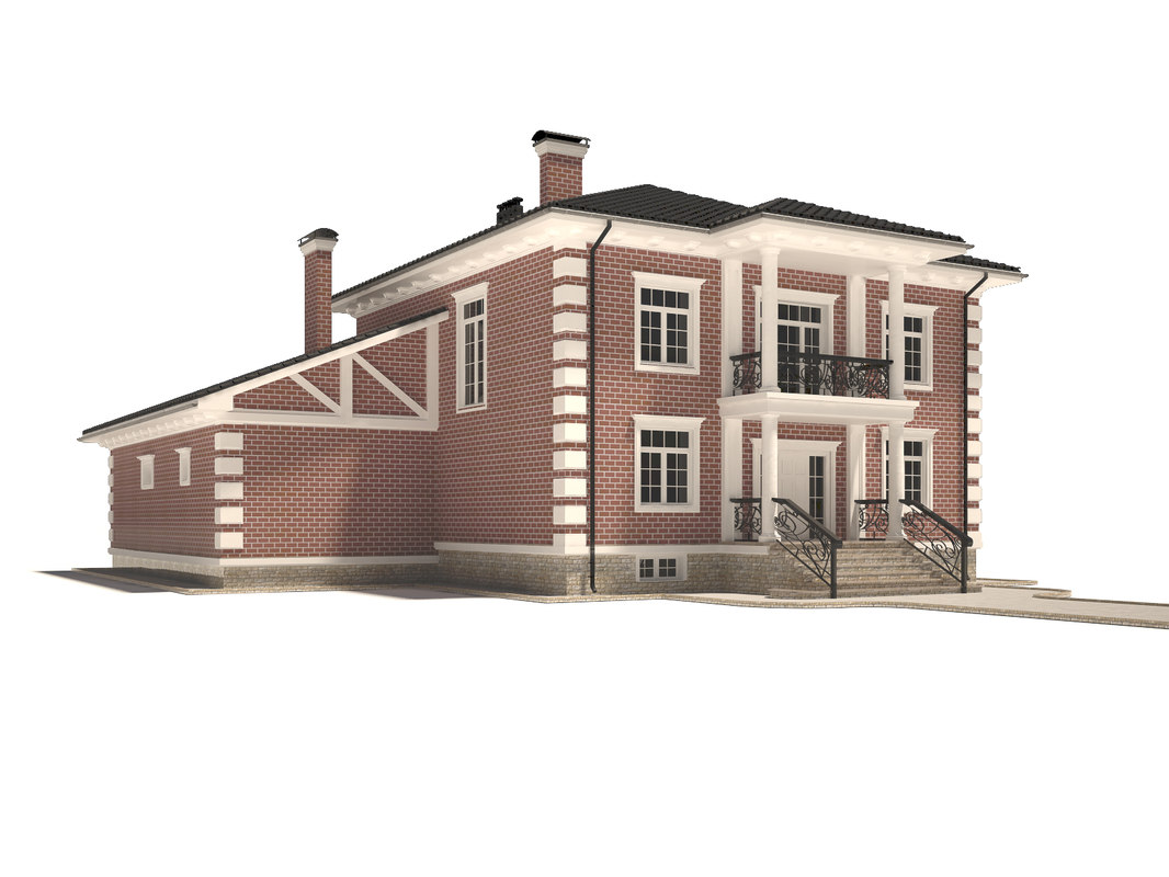 3ds max cottage house