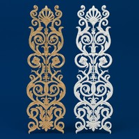 Classic decorative ornament Arabesque [ plant bas relief ]