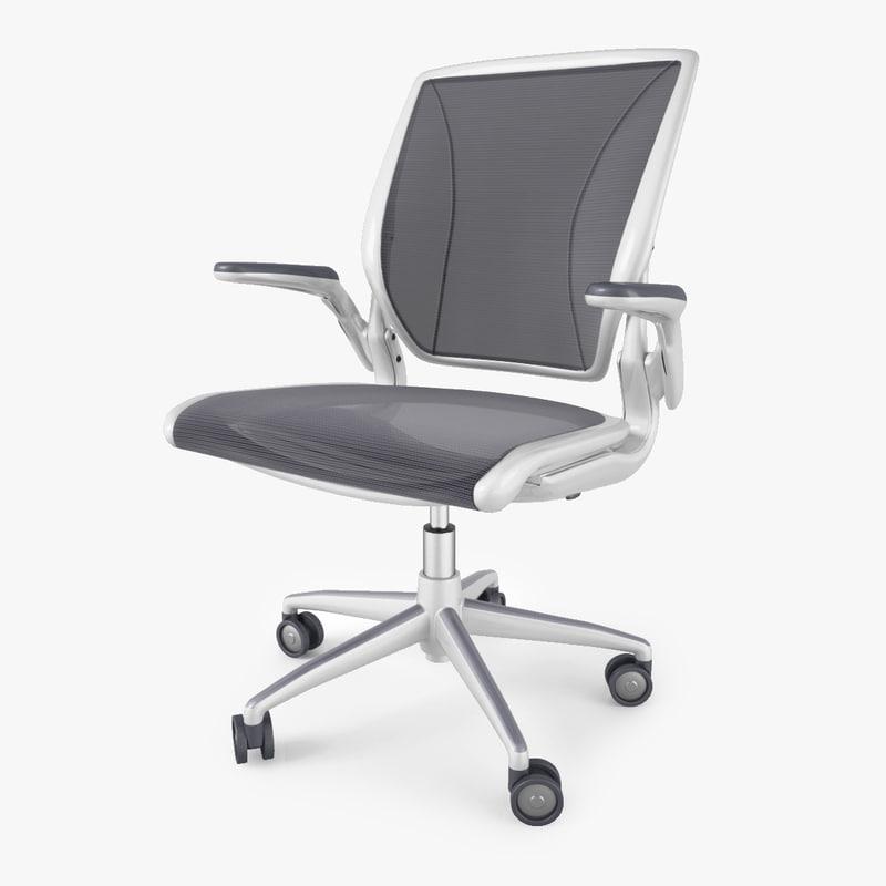 humanscale diffrient world chair 3d model