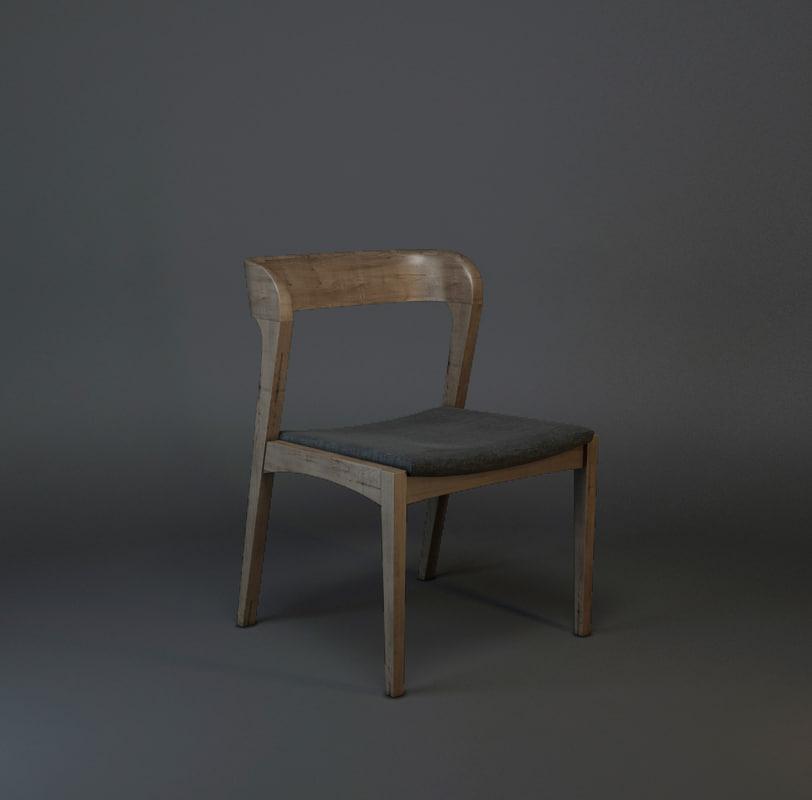 3d bjorn dining chair model