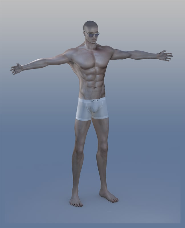 3d male guy man