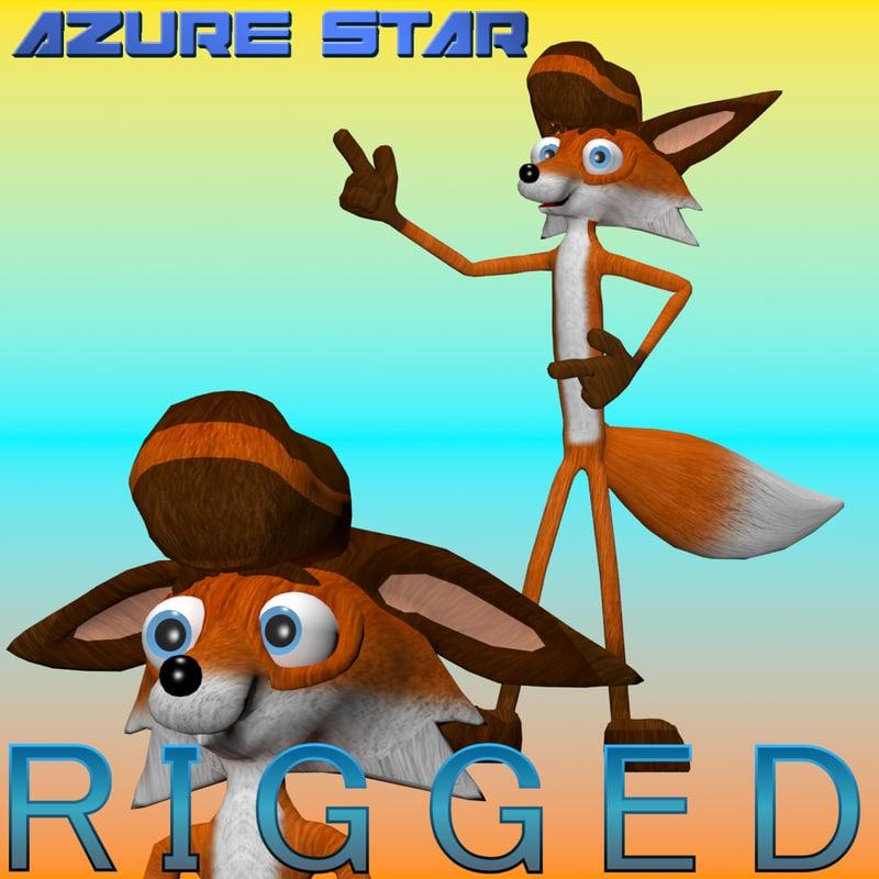 3d model fox character productions