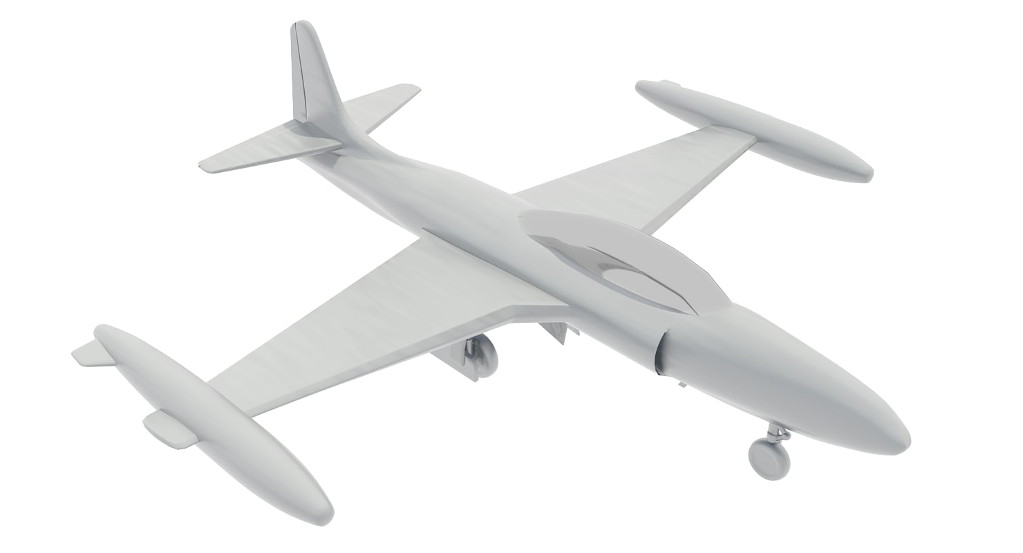 3d t-33 jet fighter model