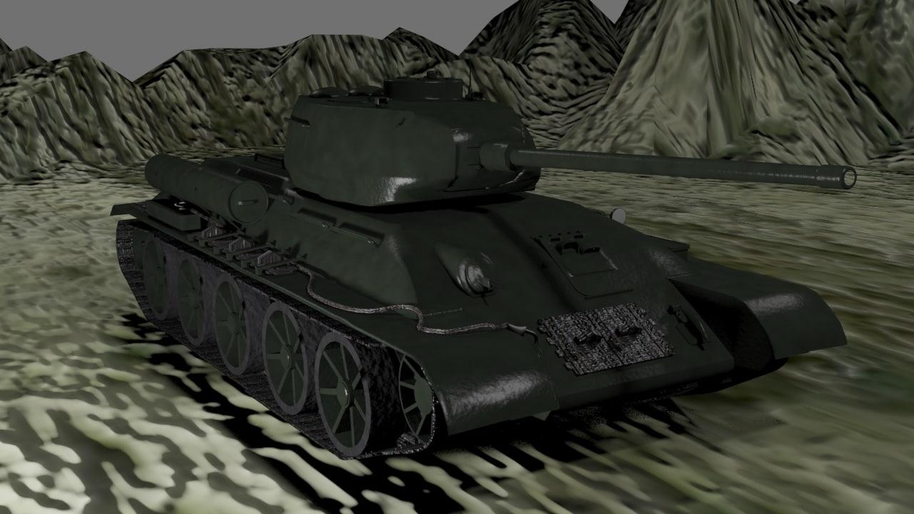 t-34-85 3d max