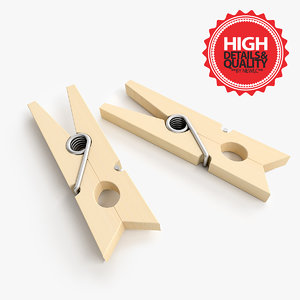 3d model clothes peg