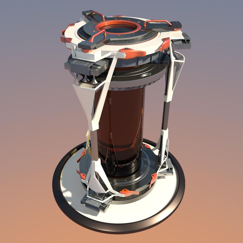 futuristic sci fi biohazard 3d max