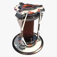 Sci-fi Biohazard Container
