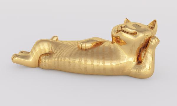 golden cat 3d max