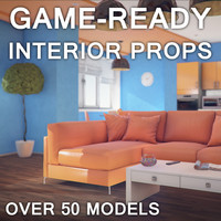 Next-gen low-poly interior props for games and presentations
