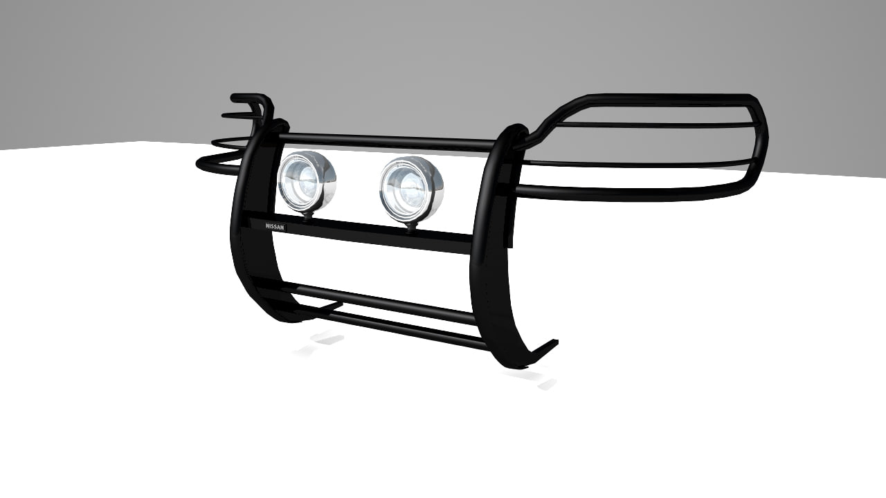 nissan grille guard lights 3d 3ds