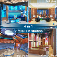 3d model tv virtual studios 4