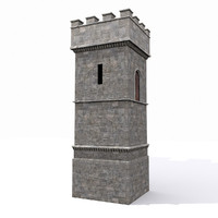 Medieval Square Tower Castle 1