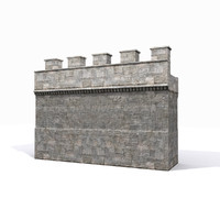 Medieval Basic Castle Wall 1