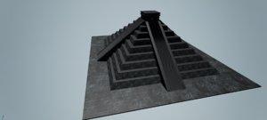 mayan interiors 3d model