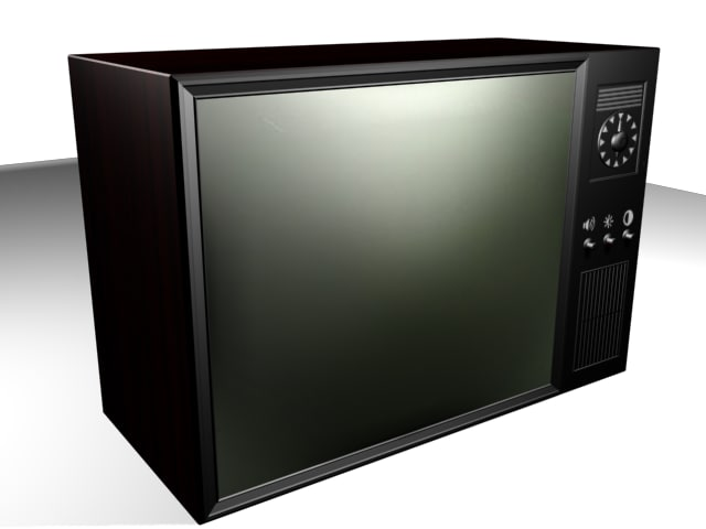 3d model classic television