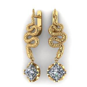 snake earrings 3d model