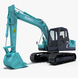 3dsmax excavator kobelco sk140