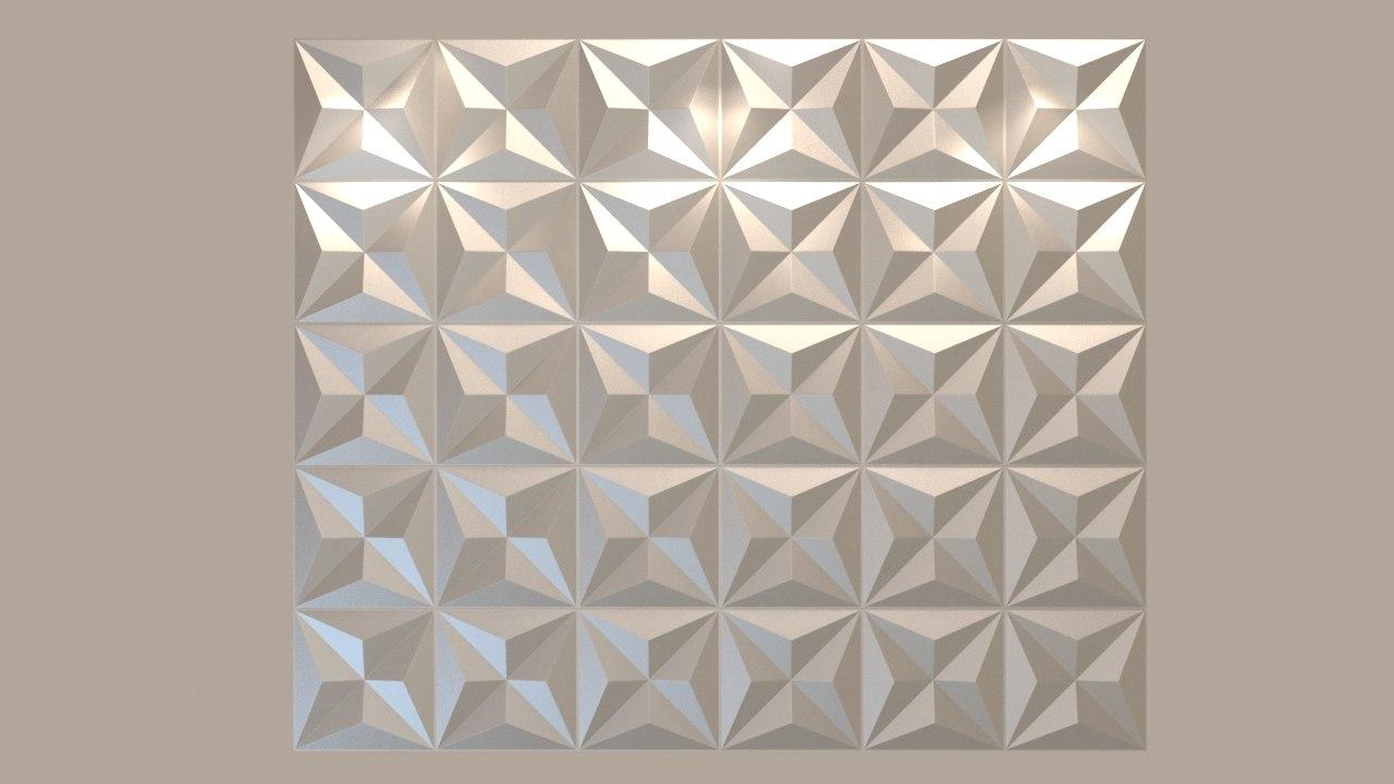 decorative wall panel 3d max