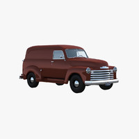 3ds max chevy panel van 1951