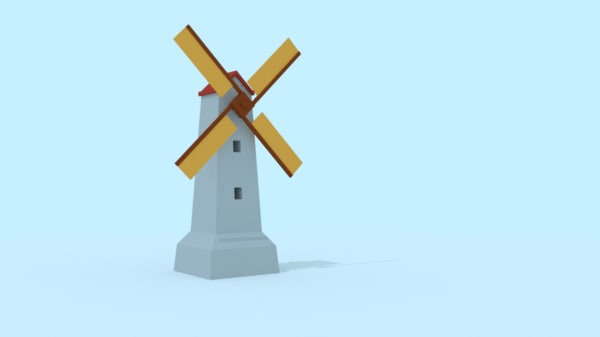 windmill 3d 3ds
