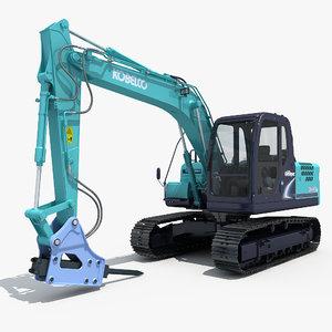 3d excavator kobelco sk140 model