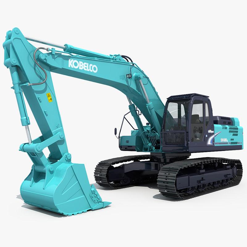 3d excavator kobelco sk480