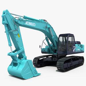 3d model excavator kobelco sk460