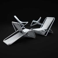 3d aluminum-lounger-chair model