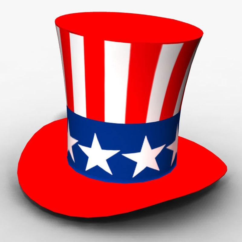 american hat 3d ma
