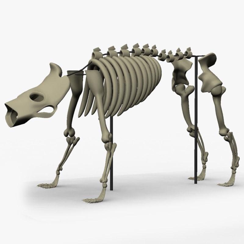 3d ma skeleton beast