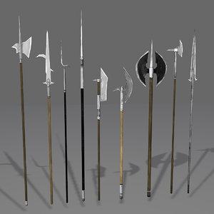 - medieval polearm axe max