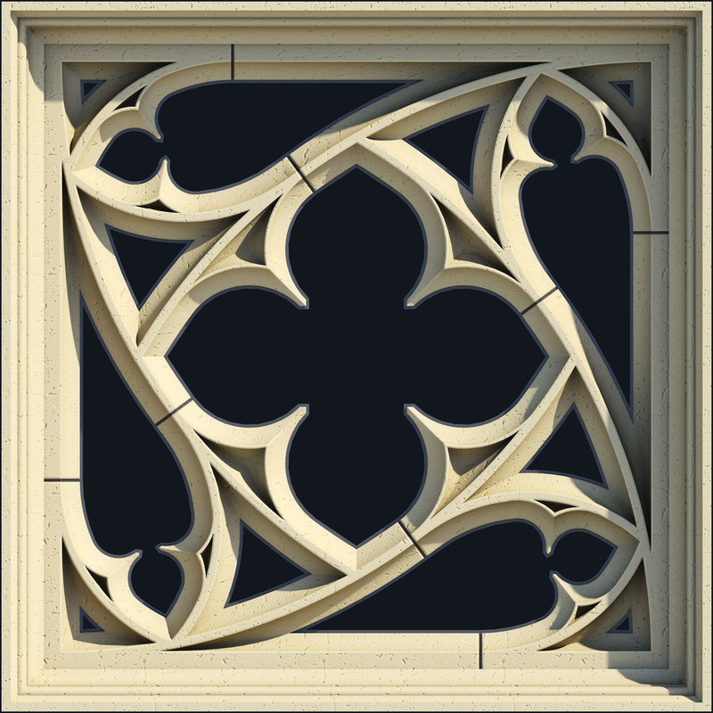 small square gothic window max