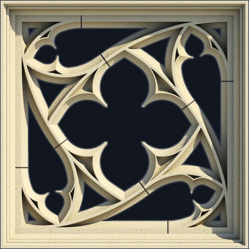 small square gothic window max. Black Bedroom Furniture Sets. Home Design Ideas