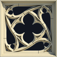 Small Square Gothic Window