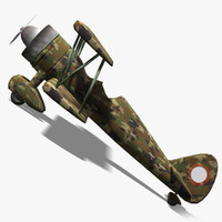 3d obj army fighter airplane
