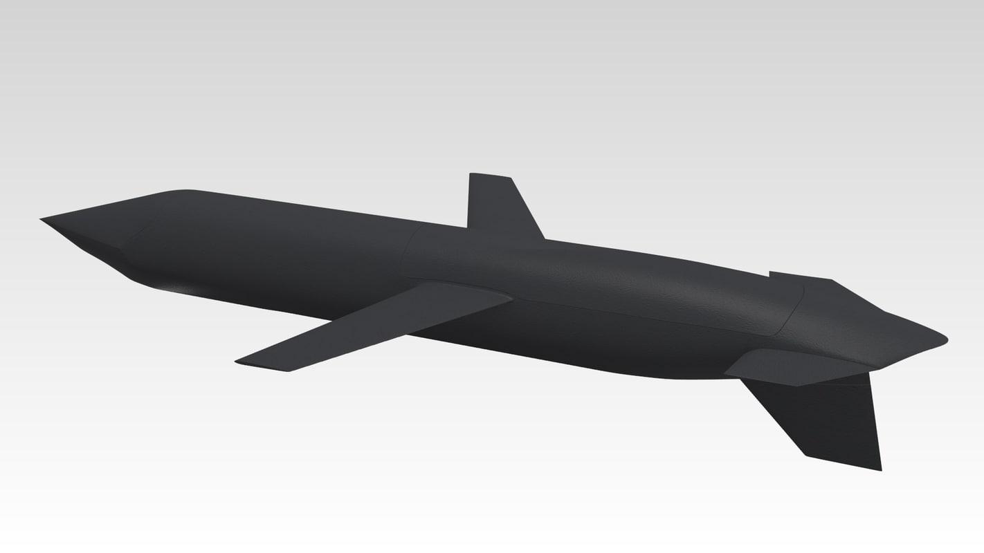 agm-129 cruise missile 3d obj