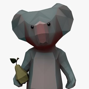 cartoon koala 3d c4d