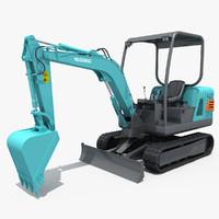 3d model excavator small