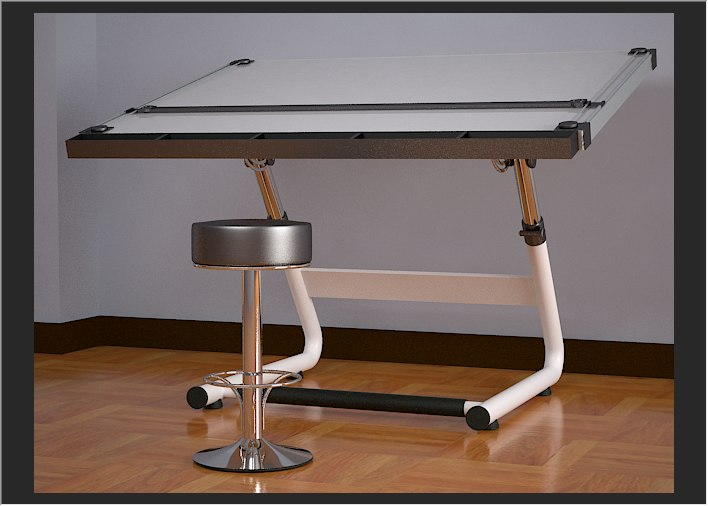 drafting table obj