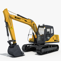 3d max excavator sany