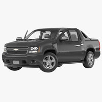 3d chevrolet avalanche 2015 rigged