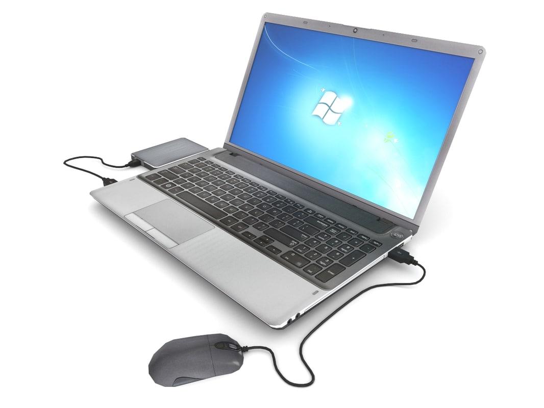 laptop external hard 3d 3ds