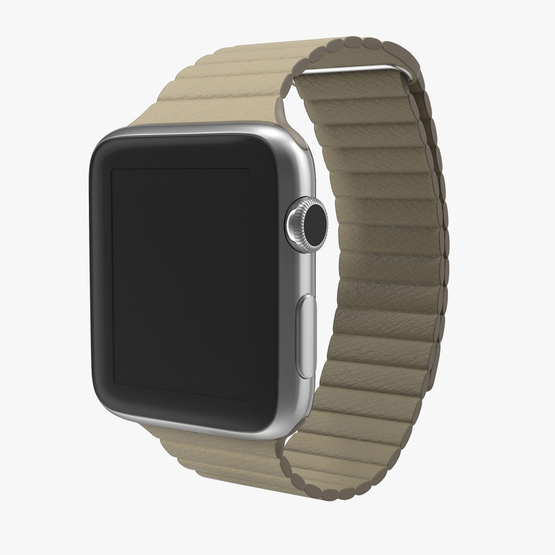 3d apple watch 42mm stone model