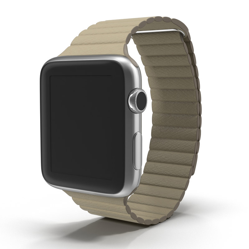 3d apple watch 42mm stone model