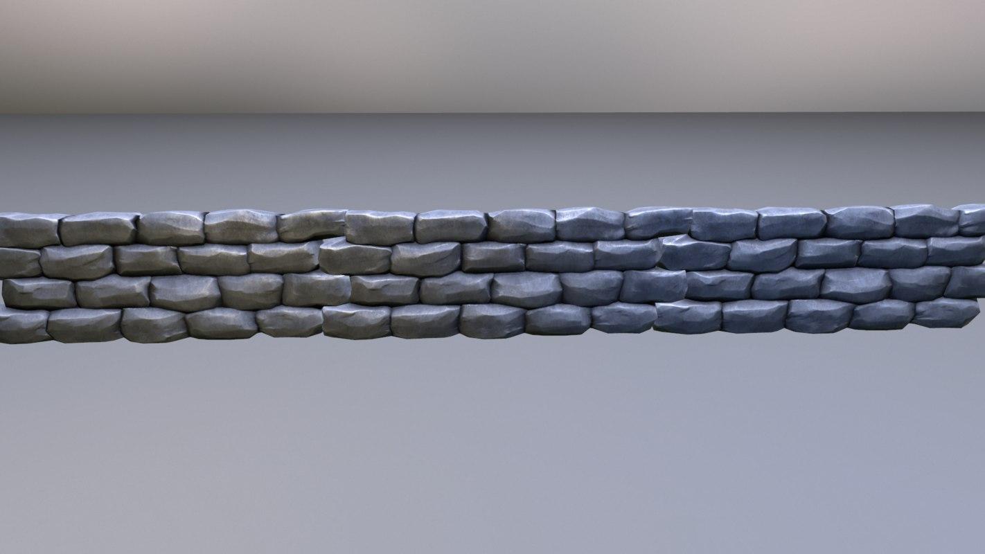 ready stone wall 3d model